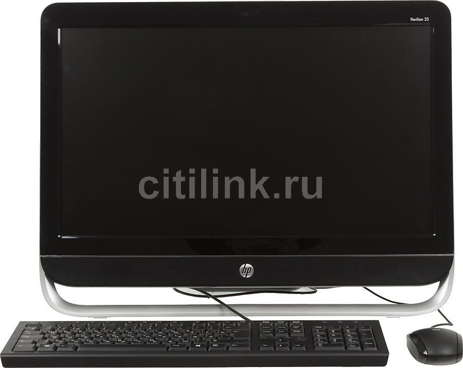 Моноблок HP Pavilion 23-b304er, Intel Core i5 3340S, 4Гб, 1000Гб, nVIDIA GeForce 710A - 1024 Мб, DVD-RW, Windows 8, черный и серебристый [d7e49ea]