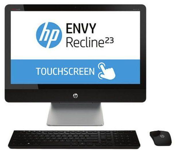 Моноблок HP ENVY Recline 23-k020er, Intel Core i7 4770T, 8Гб, 1000Гб, nVIDIA GeForce GT730A - 1024 Мб, Windows 8, черный и серебристый [d7u18ea]