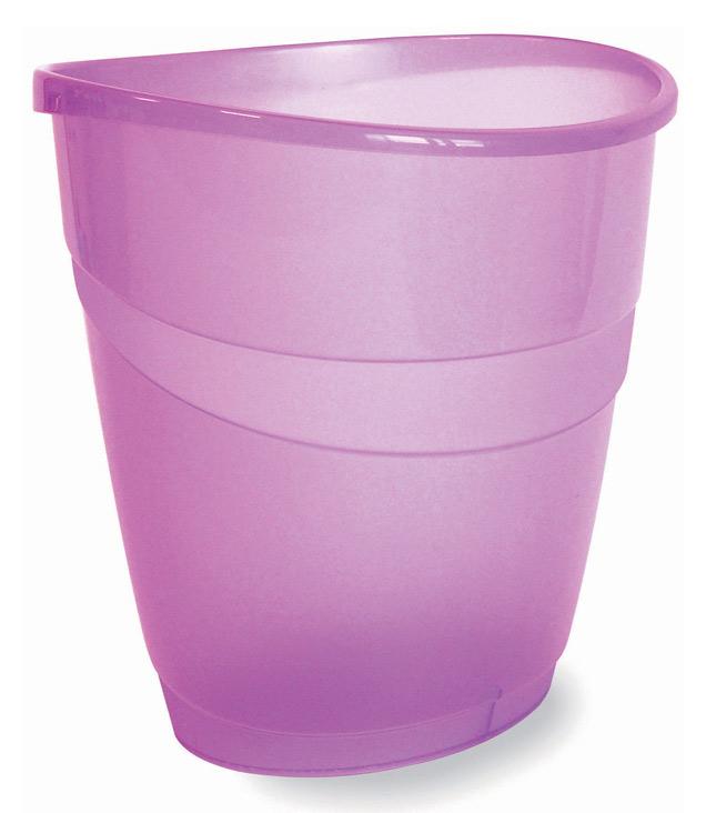 Корзина для бумаг ARDA 16л, пластик, круглая, фиолетовый