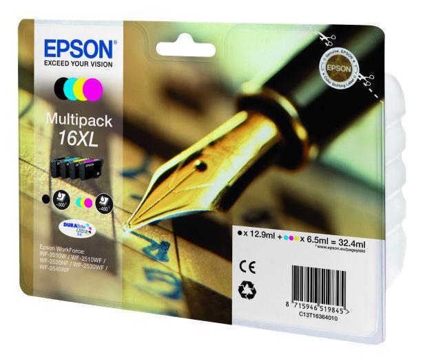 Набор картриджей EPSON C13T16364010 черный / голубой / желтый / пурпурный