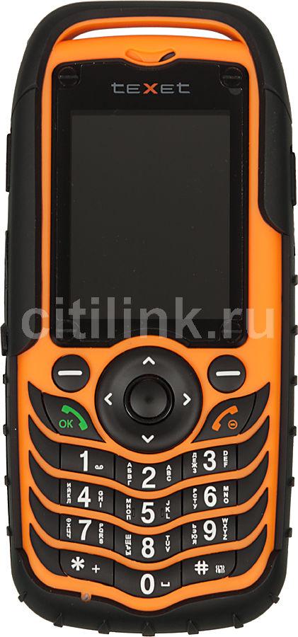 Мобильный телефон TEXET TM-510R  черный/оранжевый