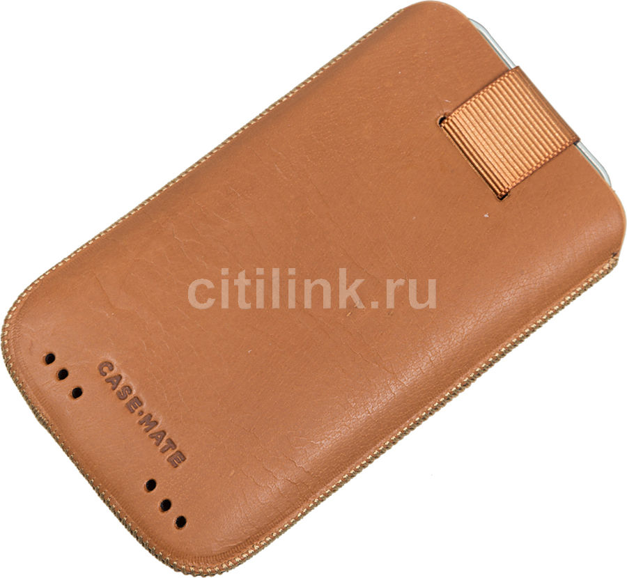 Чехол (футляр)  Case-Mate Signature Pouch, для Apple iPhone 4/4S, коричневый [cm019540]
