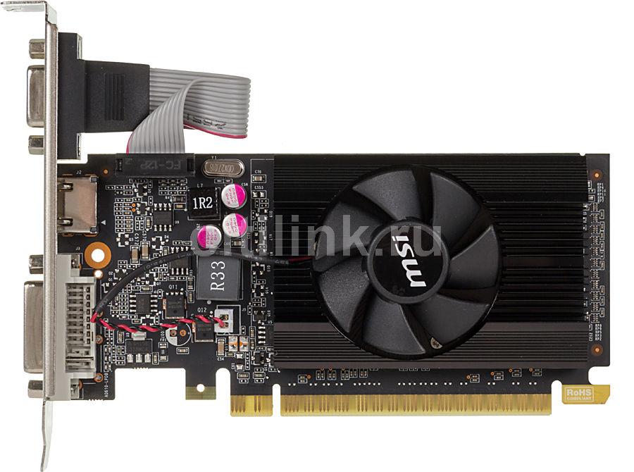 Видеокарта MSI GeForce GT 610,  1Гб, DDR3, Low Profile,  Ret [n610gt-md1gd3/lp]