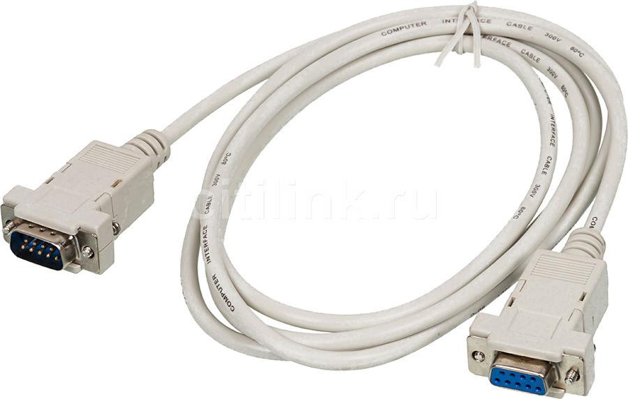Кабель-удлинитель Serial 9 pin NINGBO COM 9-pin (m) -  COM 9-pin (f),  1.8м,  серый [013-06]