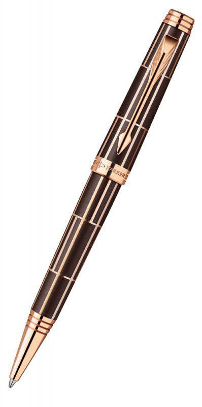 Ручка шариковая Parker Premier Luxury K565 (1876379) Brown PGT M черные чернила подар.кор.