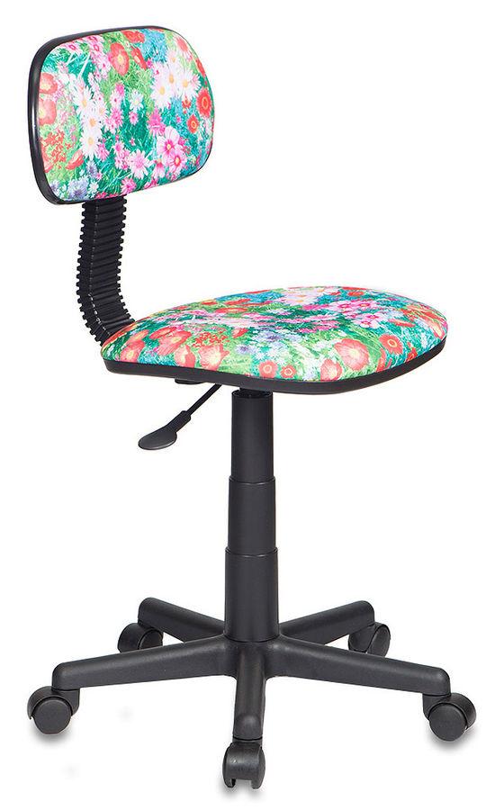 Кресло детское БЮРОКРАТ CH-201NX, на колесиках, ткань, зеленый/принт [ch-201nx/grland]