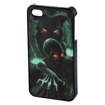 Чехол (клип-кейс) HAMA Dark Skull, для Apple iPhone 4/4S, черный