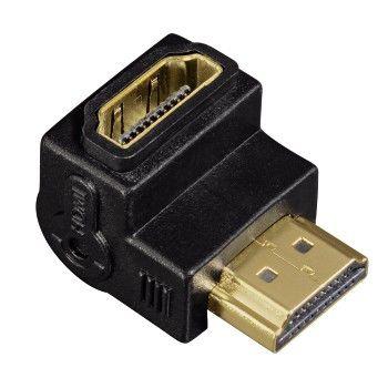 Адаптер видео HAMA HDMI (f)  (Г-образный) -  HDMI (m) ,  GOLD черный