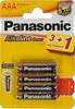 Батарея PANASONIC Alkaline Power LR03APB/4BP LR03,  4 шт. AAA вид 1