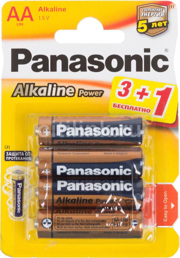 Батарея PANASONIC Alkaline Power R6APB/4BP LR6,  4 шт. AA
