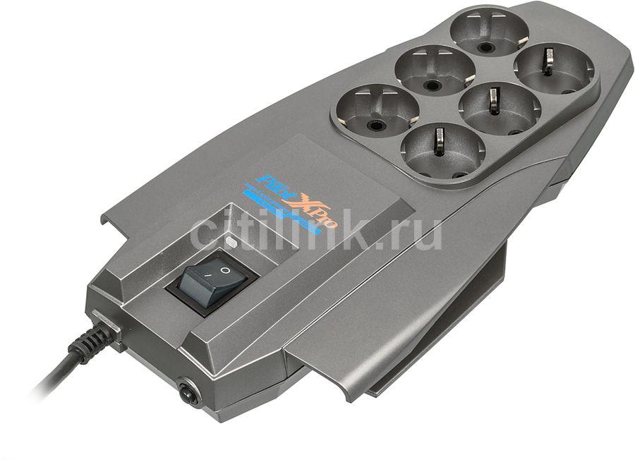 Сетевой фильтр PILOT X-Pro, 5м, серый