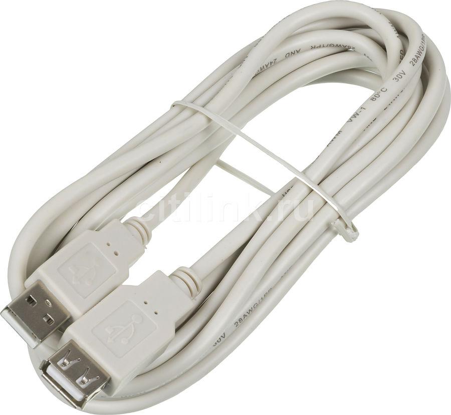 Кабель-удлинитель USB2.0 NINGBO USB A(m) -  USB A(f),  3м,  блистер [usb2.0-am-af-3-br]