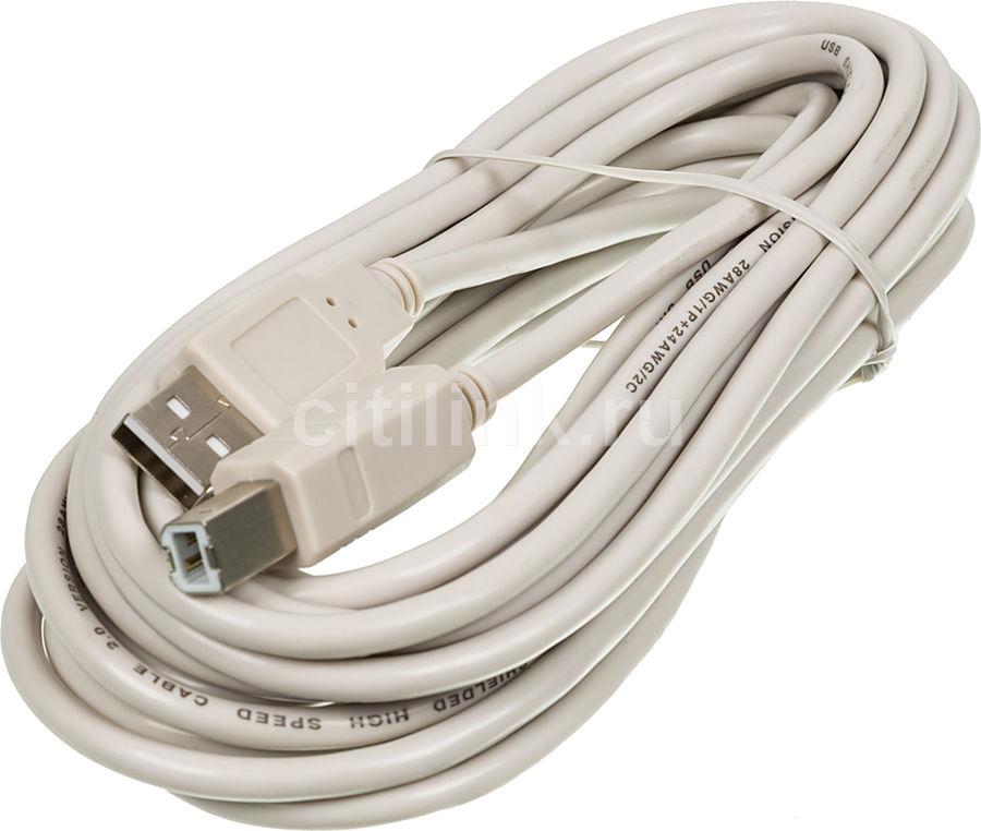Кабель USB2.0 NINGBO USB A (m) -  USB B (m),  5м,  серый