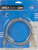 Кабель USB2.0 NINGBO USB A (m) -  miniUSB B 5-pin (m),  GOLD ,  1.8м,  блистер,  прозрачный вид 2