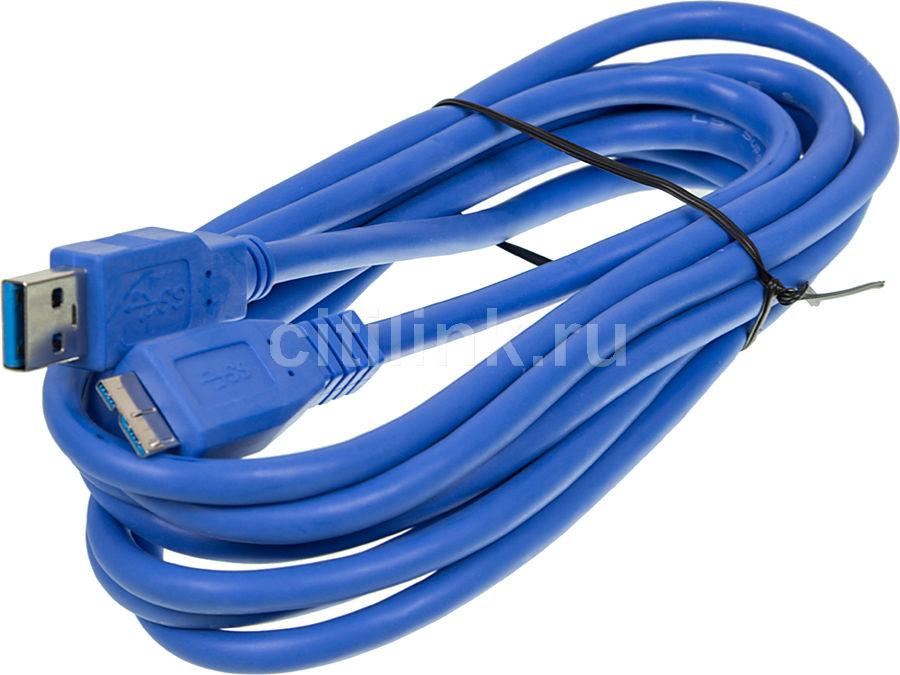 Кабель NINGBO microUSB В (m) - USB A (m), 3м
