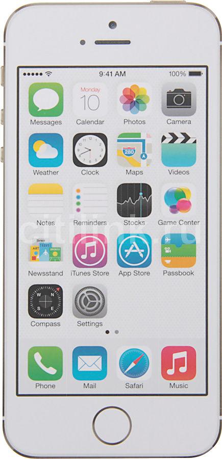 Смартфон APPLE iPhone 5s ME440RU/A  64Gb, золотистый