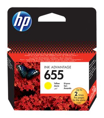 Картридж HP 655 CZ112AE,  желтый [cz112ae/bl]