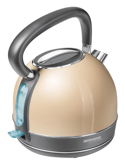 Чайник электрический REDMOND RK-M128, 2000Вт, бежевый