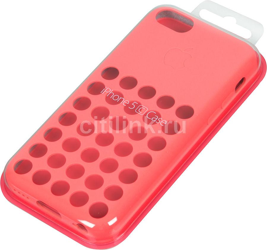 Чехол (клип-кейс) APPLE MF036ZM/A, для Apple iPhone 5c, розовый