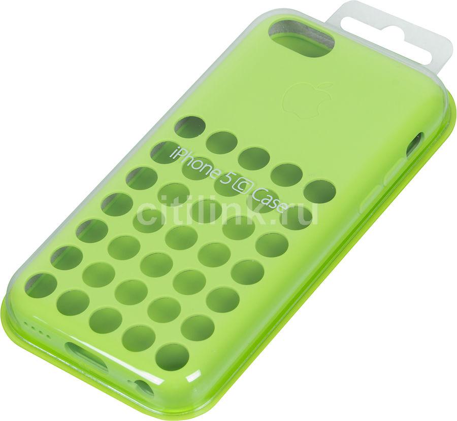 Чехол (клип-кейс) APPLE MF037ZM/A, для Apple iPhone 5c, зеленый