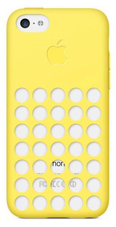Чехол (клип-кейс) APPLE MF038ZM/A, для Apple iPhone 5c, желтый