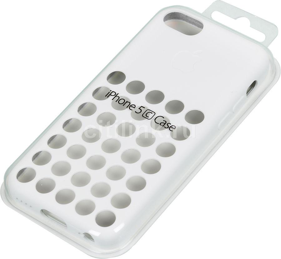 Чехол (клип-кейс) APPLE MF039ZM/A, для Apple iPhone 5c, белый