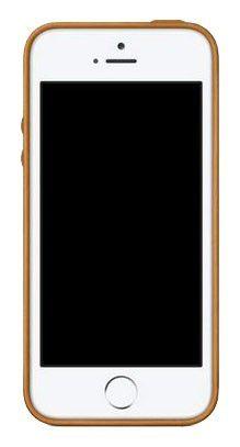 Чехол (клип-кейс) APPLE MF041ZM/A, для Apple iPhone 5s, коричневый