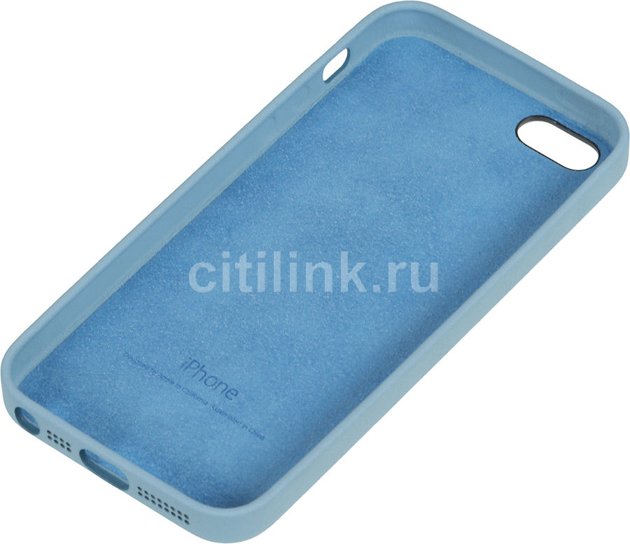 Чехол (клип-кейс) APPLE MF044ZM/A, для Apple iPhone 5s, голубой