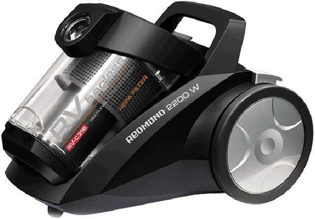 Пылесос REDMOND RV-C316, 2200Вт, черный
