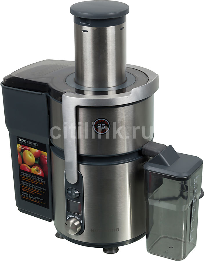 Соковыжималка REDMOND RJ-M908,  центробежная,  серебристый