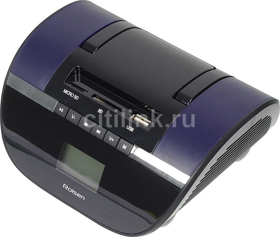 Аудиомагнитола ROLSEN RBM-413,  фиолетовый