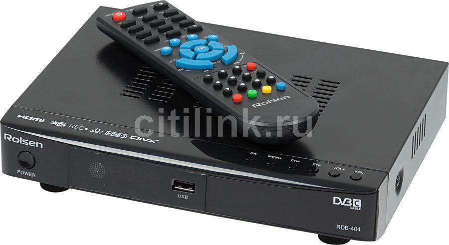 Ресивер DVB-C ROLSEN RDB-404,  черный [1-rldb-rdb-404]