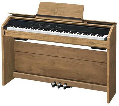 Цифровое фортепиано PRIVIA CASIO PX-A800BN, 88, полновзвешенная, полноразмерные, 256, коричневый (дуб)