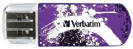 Флешка USB VERBATIM Store n Go Mini Graffiti 8Гб, USB2.0, пурпурный и рисунок [98164]