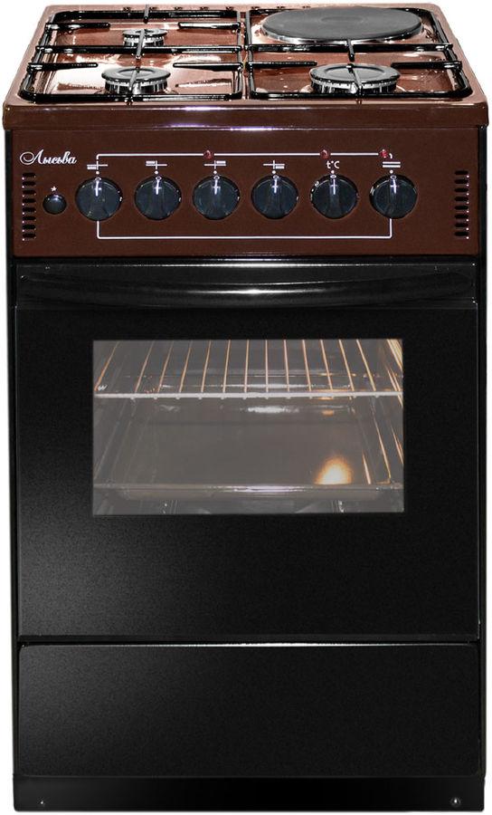 Газовая плита ЛЫСЬВА ЭГ 1/3г01-2у,  электрическая духовка,  коричневый
