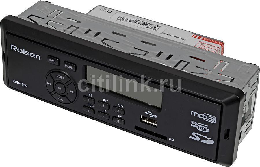 Автомагнитола ROLSEN RCR-100G,  USB,  SD/MMC