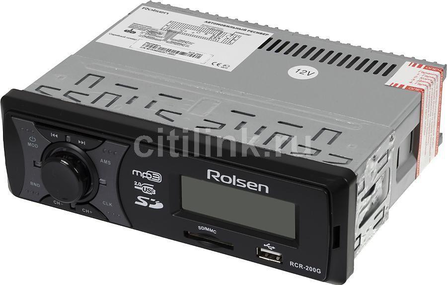Автомагнитола ROLSEN RCR-200G,  USB,  SD/MMC