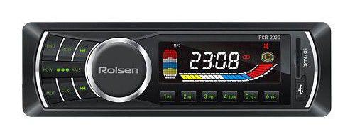 Автомагнитола ROLSEN RCR-202G,  USB,  SD/MMC