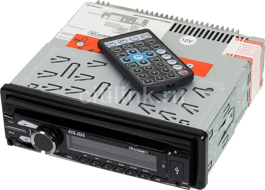 Автомагнитола ROLSEN RCR-450G,  USB,  SD/MMC