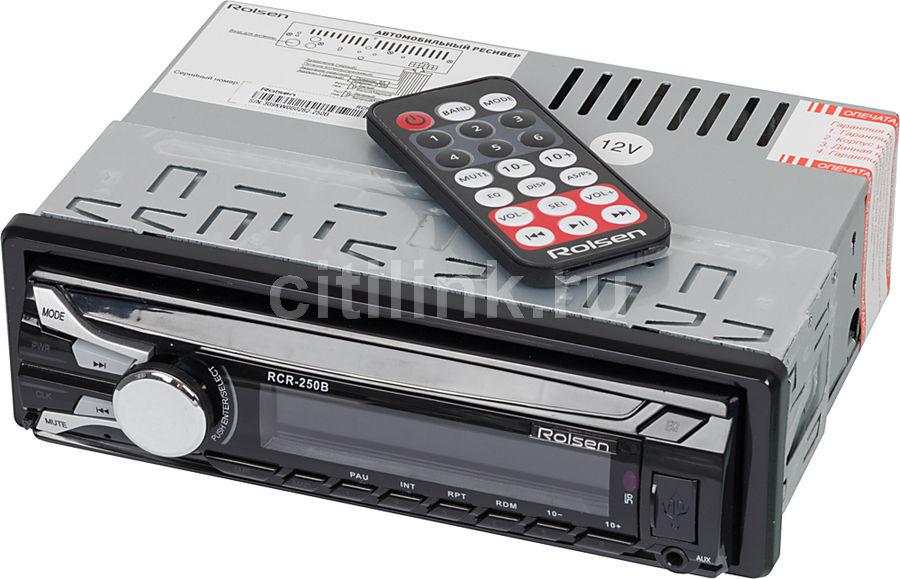 Автомагнитола ROLSEN RCR-250B,  USB,  SD/MMC