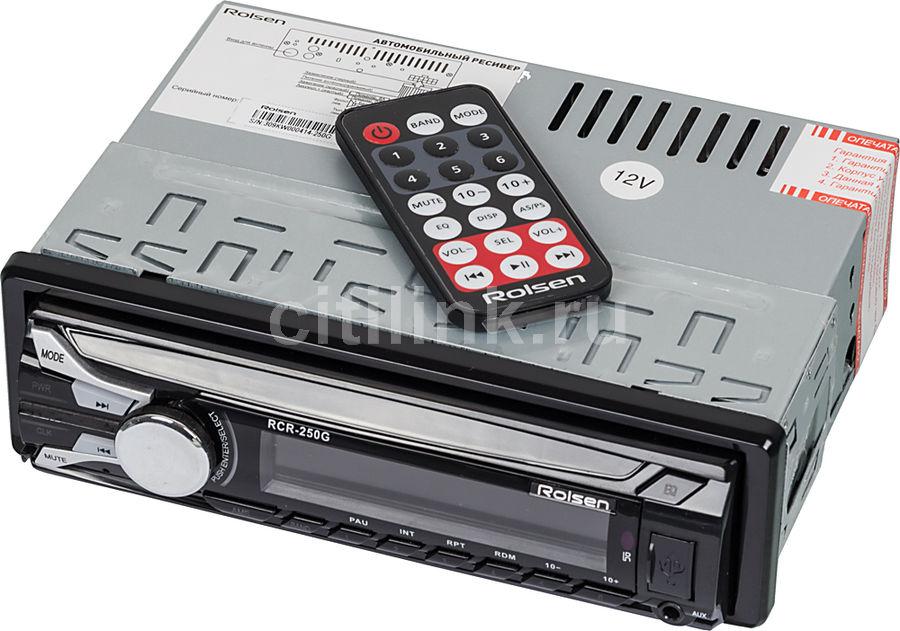 Автомагнитола ROLSEN RCR-250G,  USB,  SD/MMC
