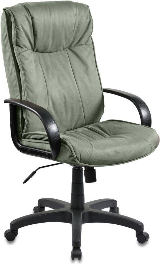 Кресло руководителя БЮРОКРАТ CH-838AXSN, на колесиках, микрофибра, зеленый [ch-838axsn/mf109]