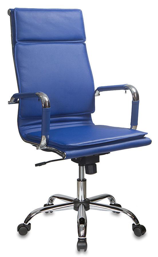 Кресло руководителя БЮРОКРАТ CH-993, на колесиках, искусственная кожа, синий [ch-993/blue]
