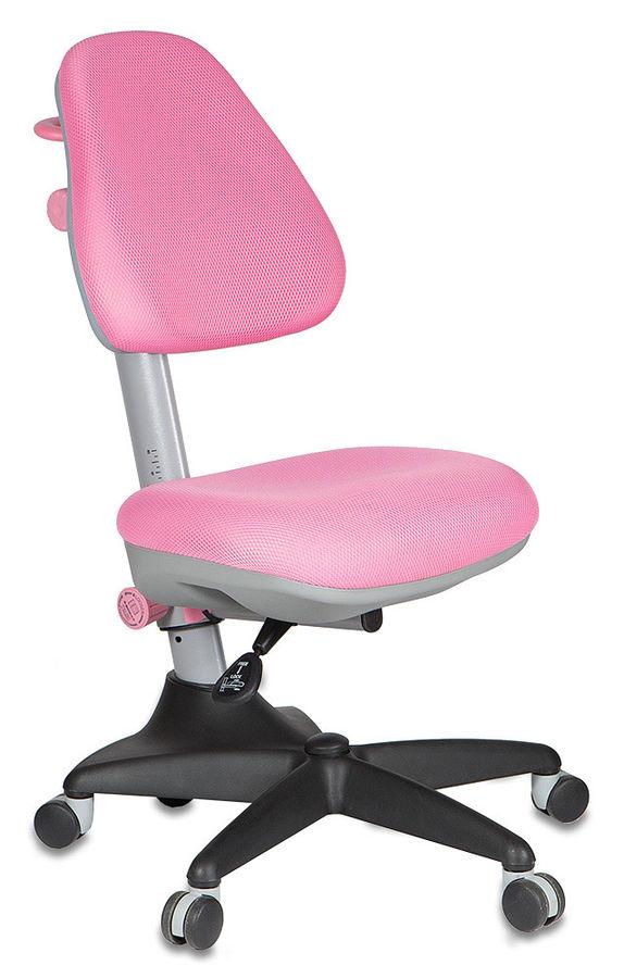 Кресло детское БЮРОКРАТ KD-2, на колесиках, ткань, розовый [kd-2/pk/tw-13a]