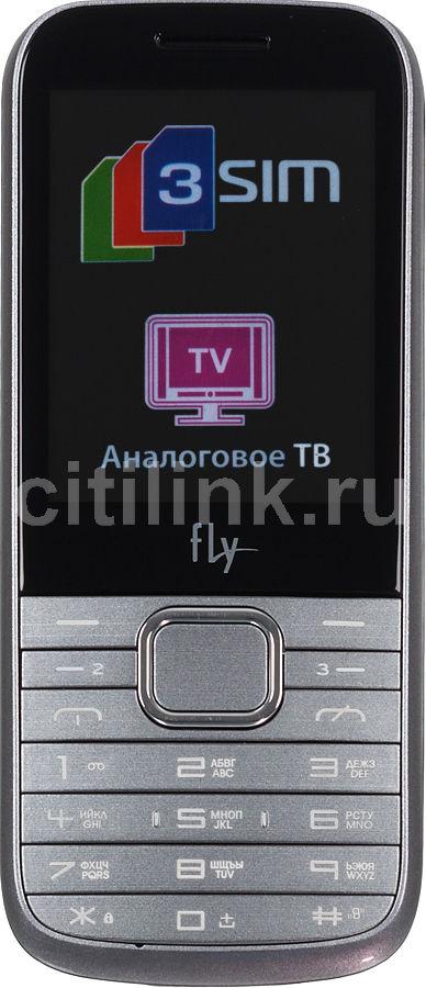 Мобильный телефон FLY TS107  серебристый