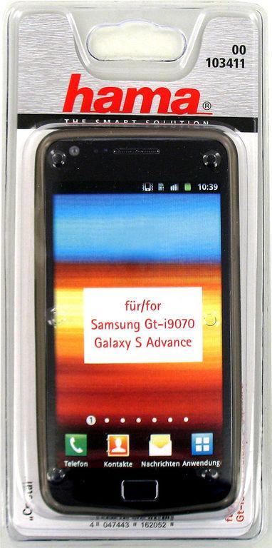 Чехол (клип-кейс) HAMA Cristal, H-103411, для Samsung Galaxy S Advance, серый