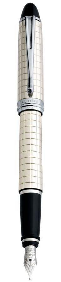 Ручка перьевая Aurora Ipsilon корпус серебро 925пр перо золото 14кт М (AU-B14/QM)