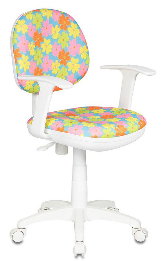 Кресло БЮРОКРАТ CH-W356AXSN, на колесиках, ткань, голубой [ch-w356axsn/77-30]