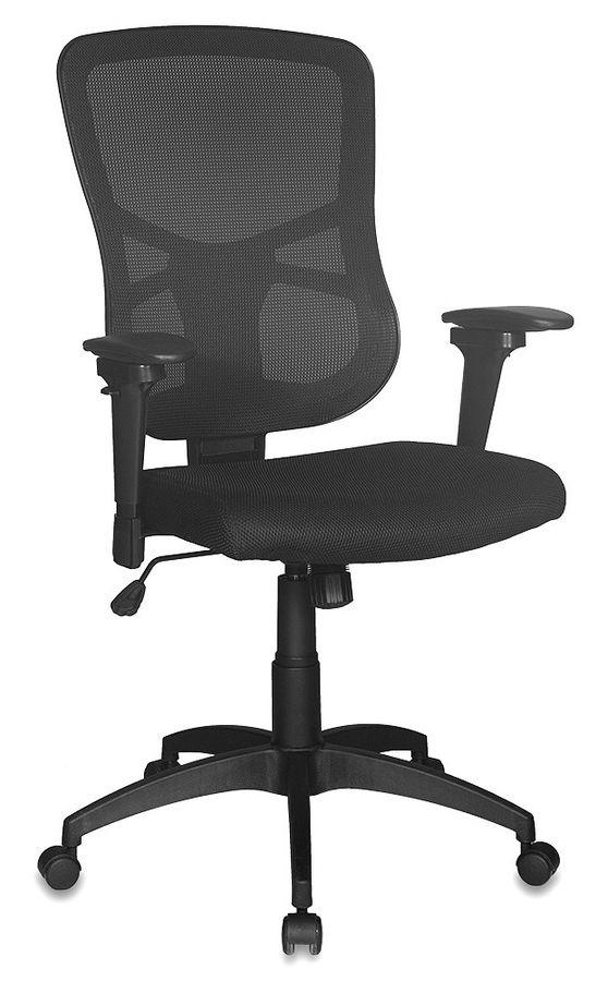Кресло руководителя БЮРОКРАТ CH-888, на колесиках, ткань, черный