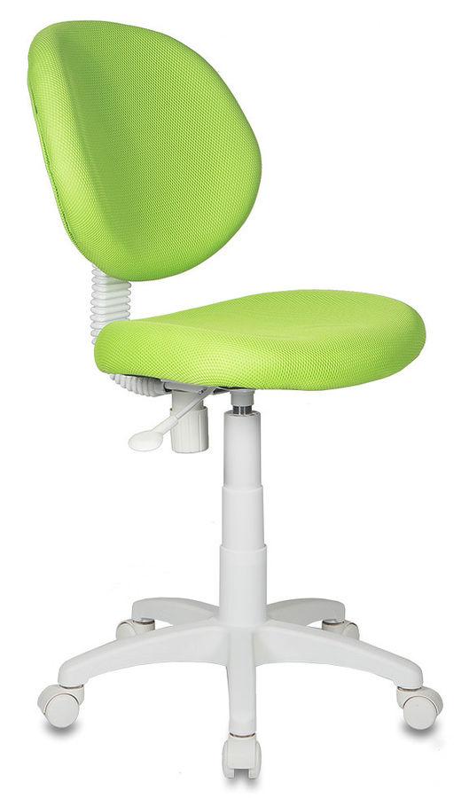 Кресло детское БЮРОКРАТ KD-W6, на колесиках, ткань, салатовый [kd-w6/tw-18]